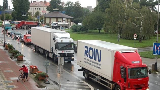 Dopravní kolaps v Přerově