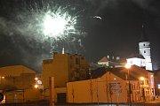 Přerov vstoupil do nového roku 2019 bez větších oslav na náměstí a centrum města bylo téměř vylidněné.
