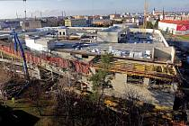 Stavba nového obchodního centra místo starého Prioru v Přerově - 24. listopadu 2015