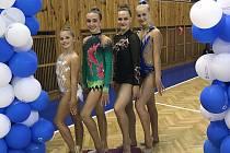 Moderní gymnastky Přerova závodily po devítiměsíční pauze.
