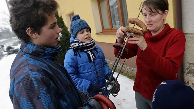 Blažejská koleda v Dluhonicích, místní části Přerova.