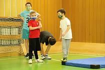 Trénink nejmenších basketbalistů v Přerově. 3. 12. 2020