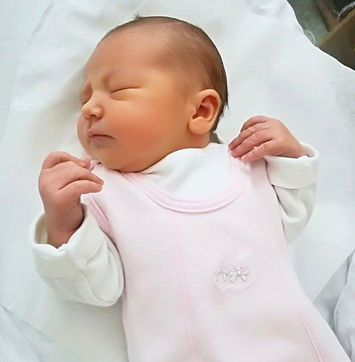 Mia Foldynová, Přerov, narozena 16. srpna 2017 v Přerově, míra 50 cm, váha 3400 g