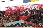 Fanoušci Prostějova na derby s Přerovem