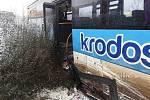 Nehoda autobusu u Kojetína - 3. 12. 2020