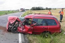 Řidička fiatu zavinila v pondělí po poledni nehodu na silnici mezi Henčlovem a Troubkami