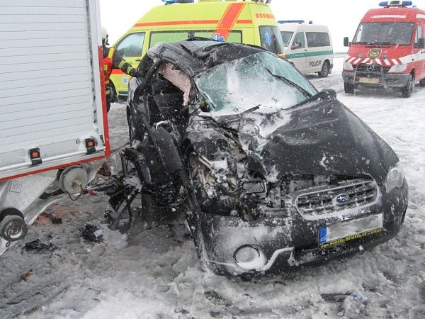 Hromadná bouračka uLipníka nad Bečvou