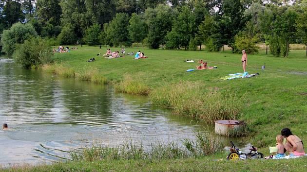 Jezero Jadran v Oseku nad Bečvou
