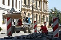 Opravy v Kratochvílově ulici v Přerově