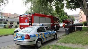 Požár v ulici Interbrigadistů v Přerově