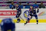 Hokejisté Přerova (v modrém) proti Kadani (5:0).