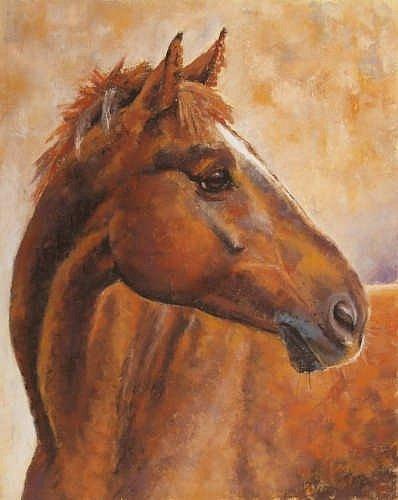 Obraz koně bratislavské malířky Soni Milové