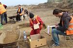 Říjen 2017 - Na trase dálnice D1 mezi Říkovicemi a Přerovem pokračuje záchranný archeologický výzkum. Badatelé nyní prozkoumávají lokalitu v Předmostí.