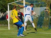 MOL Cup: fotbalisté Kozlovic (ve žlutém) porazili Přerov 2:0