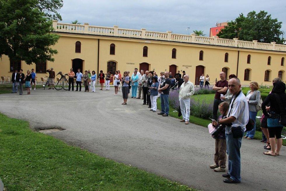 Zahájení výstavy Kov ve městě v Lipníku nad Bečvou