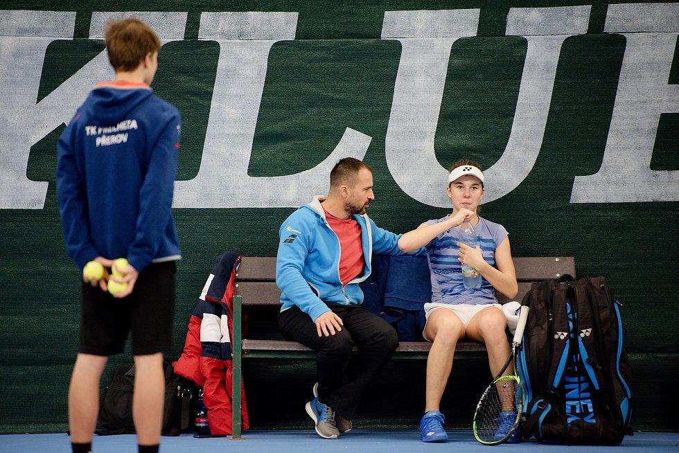 Tenisté TK Precheza Přerov v předkole Tenisové extraligy 2019 proti celku Severočeská tenisová.