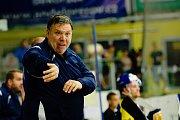 Hokejisté HC Zubr Přerov (v modrých dresech) v přípravě proti Aukro Berani Zlín. Kamil Přecechtěl. Foto: Deník/Jan Pořízek