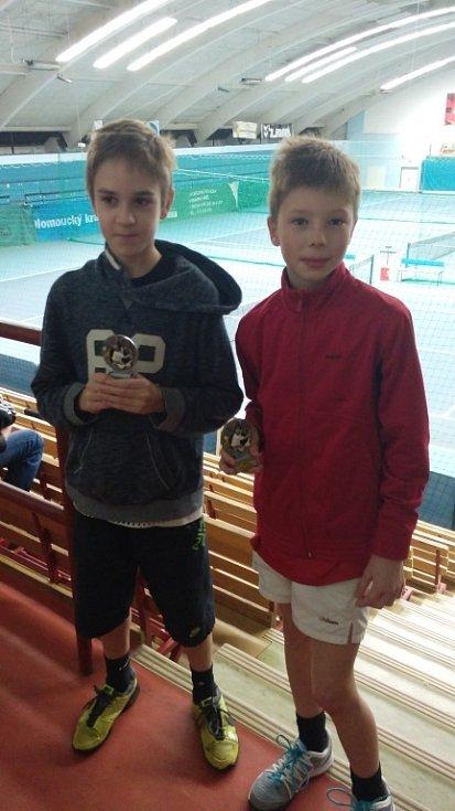 Přerovské tenisové naděje Libor Kondler a Alex Zavadil