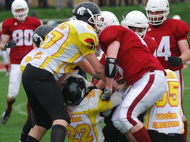 Přerovští Mammoths (v červeném) vs. Vysočina Gladiators
