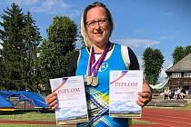 Stanislava Bubíková brala dvě zlaté medaile.