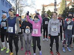 Silvestrovský běh v Přerově. Ilustrační foto