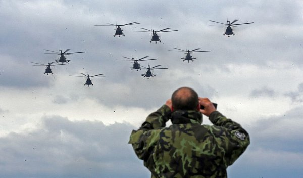 Konec vrtulníkové letky vPřerově, posledních devět strojů Mi – 171š odletělo