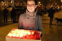 Oslavy 17. listopadu v centru Přerova. Ilustrační foto