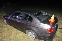 Havárie 18letého řidiče mezi Citovem a Troubkami