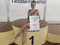 Přerovská moderní gymnastka Sára Zbožínková na MČR