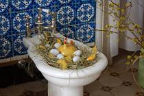 Velikonoční výzdoba na zámku v Tovačově