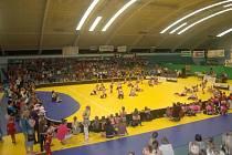 Soutěž tanenčích formací Dance Evolution ve sportovní hale v Přerově