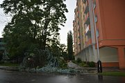 Následky bouřky v Přerově a okolí - 10. 8. 2017