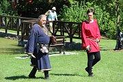 Dobývání Moravské brány přilákalo stovky lidí, zdejší zámecký park se změnil ve středověké bojiště