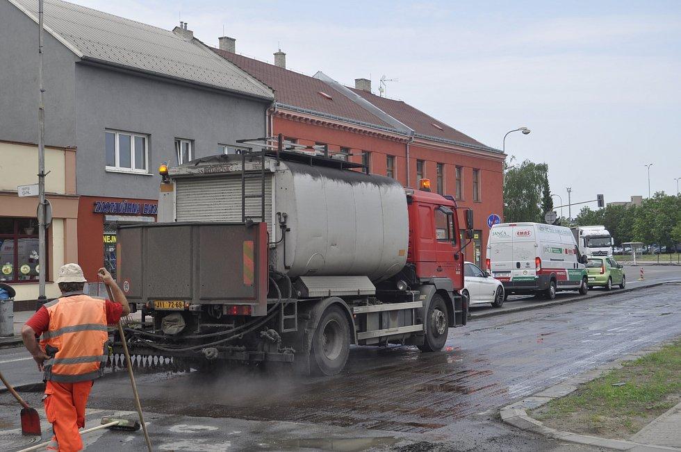 Uzavírka části Kojetínské ulice v Přerově