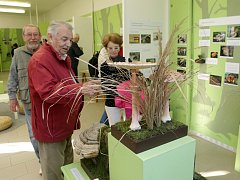 Výstava modelů hub, literatury a zavařenin.