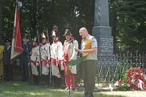 Lesního pomník obětem napoleonských válek ve Veselíčku. Ilustrační foto