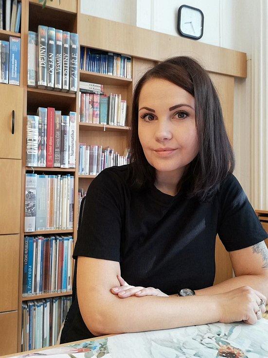Technická redaktorka a koordinátorka vzdělávacích a kulturních akcí přerovské knihovny Andrea Kopečková.