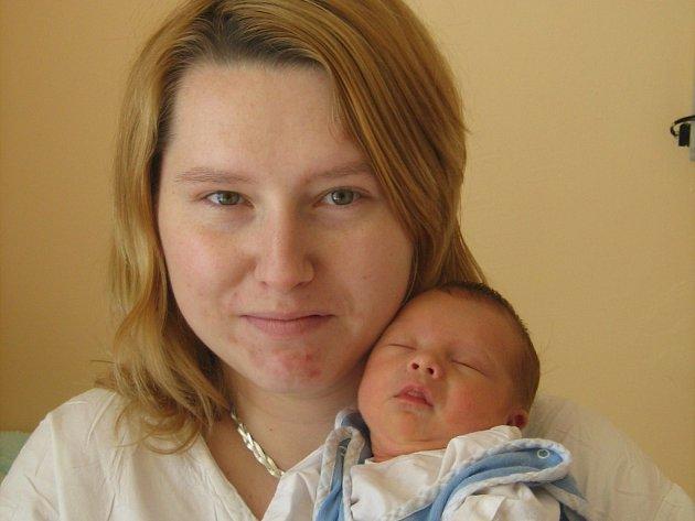 Andrea Frehérová, Domaželice, syn Martin Frehér, narozen 16. dubna 2008 v Olomouci, váha: 2,70 kg