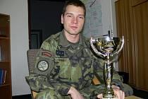 Vítěz letošního závodu Winter Survival v Jeseníkách Viktor Novotný