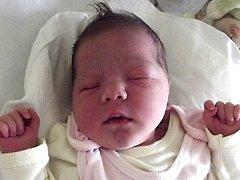 Laura Hrutkaiová, Přerov, narozena dne 8. září 2013 v Přerově, míra: 51 cm, váha: 3390 g