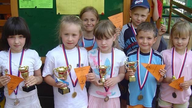 Vítězové minitenisového turnaje.