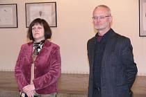 Výtvarník Ivo Chovanec bude svá díla vystavovat v hranické Synagoze až do konce února.