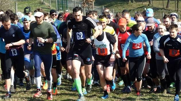 Lesní běh v Opatovicích: na startu se sešlo přes 120 závodníků. Foto: