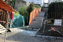 Rekonstrukce židovských schodů v Hranicích