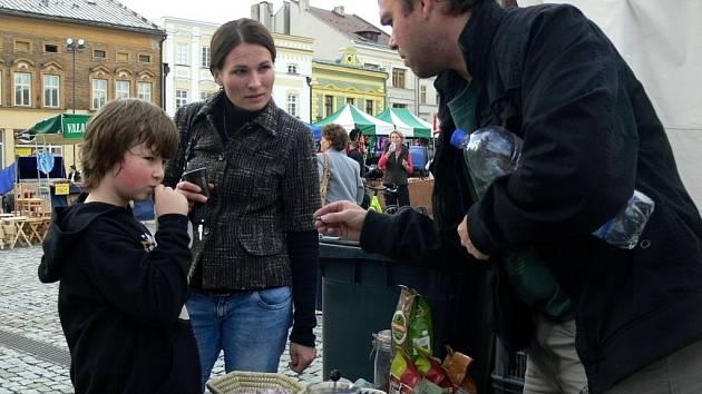 Šestý farmářský trh na Masarykově náměstí v Hranicích