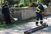 Soutěž Železný hasič v Tovačově