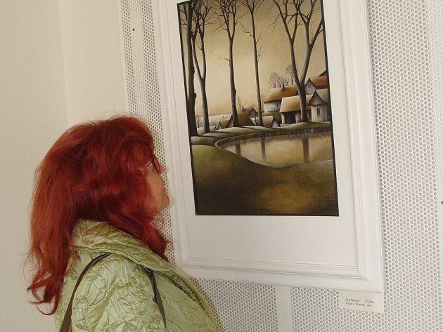 Přerovská galerii Atrax hostí výstavu obrazů malíře Petra Špačka z Vysočiny.