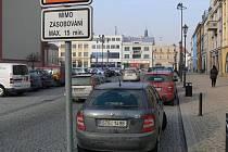 Parkování v centru Hranic