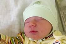 Lubomír Plhák, Brno, narozen dne 28. června 2014 v Přerově, míra: 48 cm, váha: 3330 g