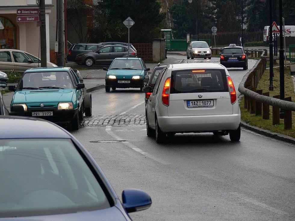 Retardéry v Komenského ulici v Hranicích